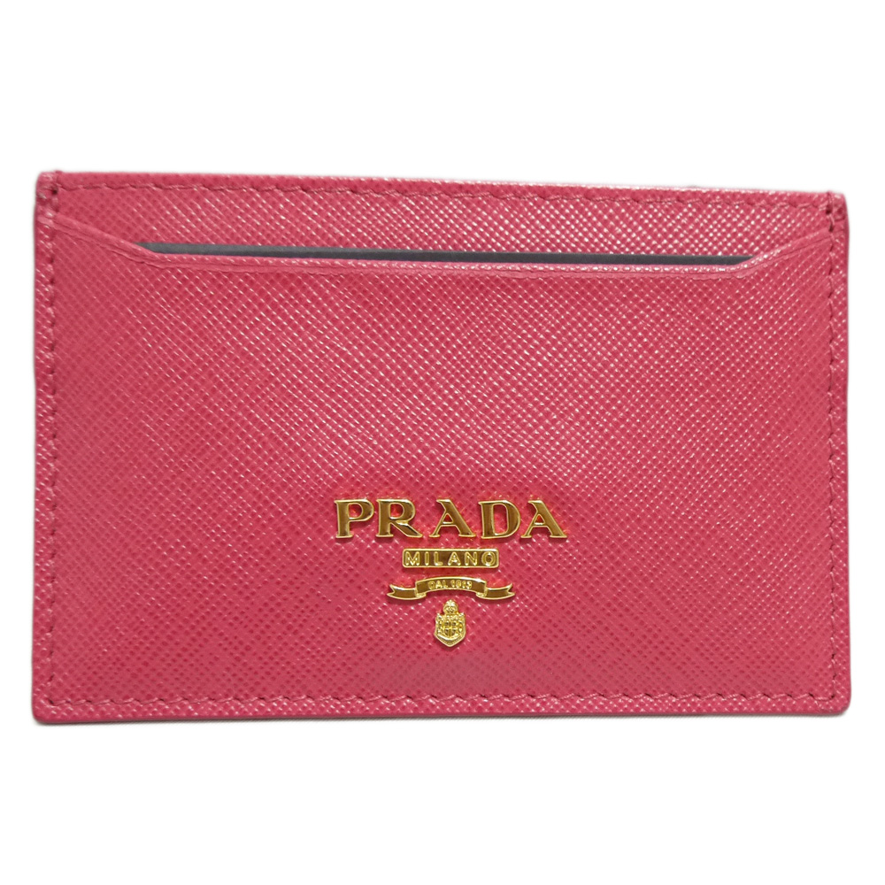 プラダ サフィアーノレザー 名刺入れ(カードケース) 1M0208 ピンク(PEONIA) PRADA