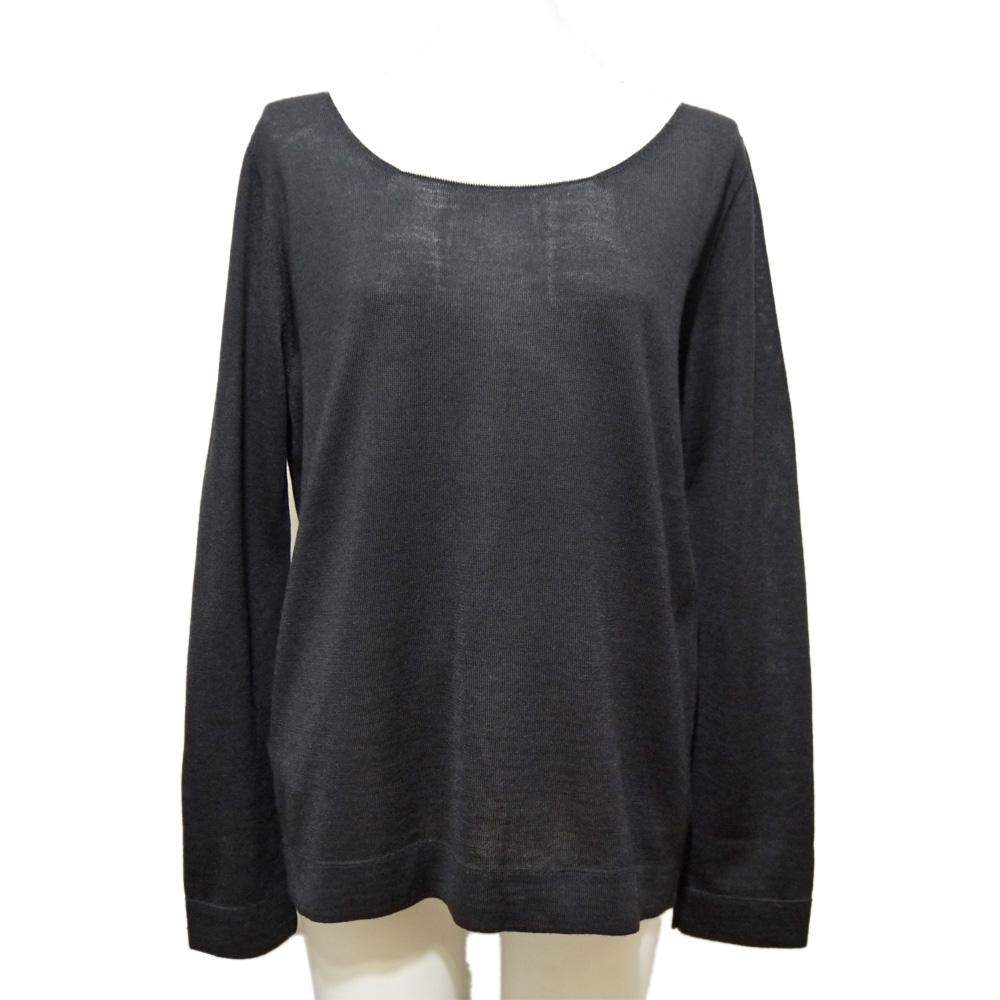 プラダ 上品なバイカラーセーター(ニット) 黒×アイボリー #42 PRADA
