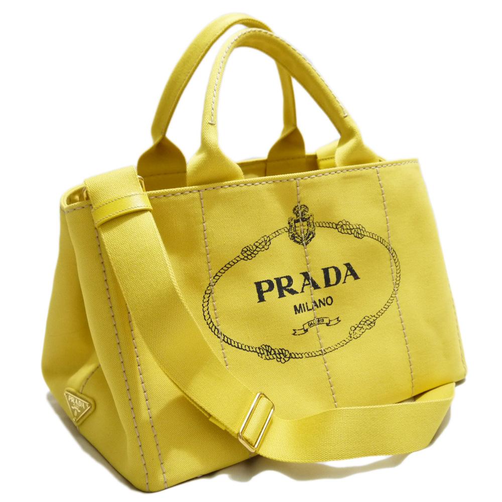 プラダ カナパ(CANAPA) ショッピングトートバッグ Sサイズ 黄色(GIRASOLE) BN2642 PRADA