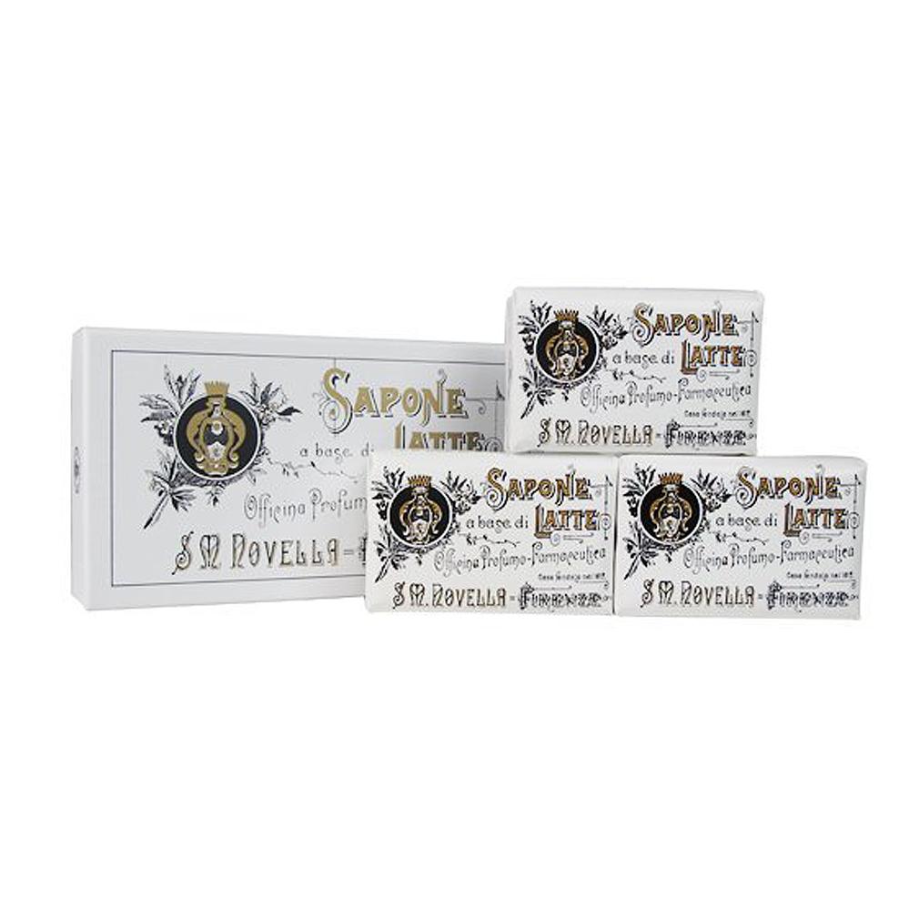 サンタマリアノヴェッラ*ミルクソープ(石鹸) 100g×3個セット サポーネ・ラッテ Santa Maria Novella