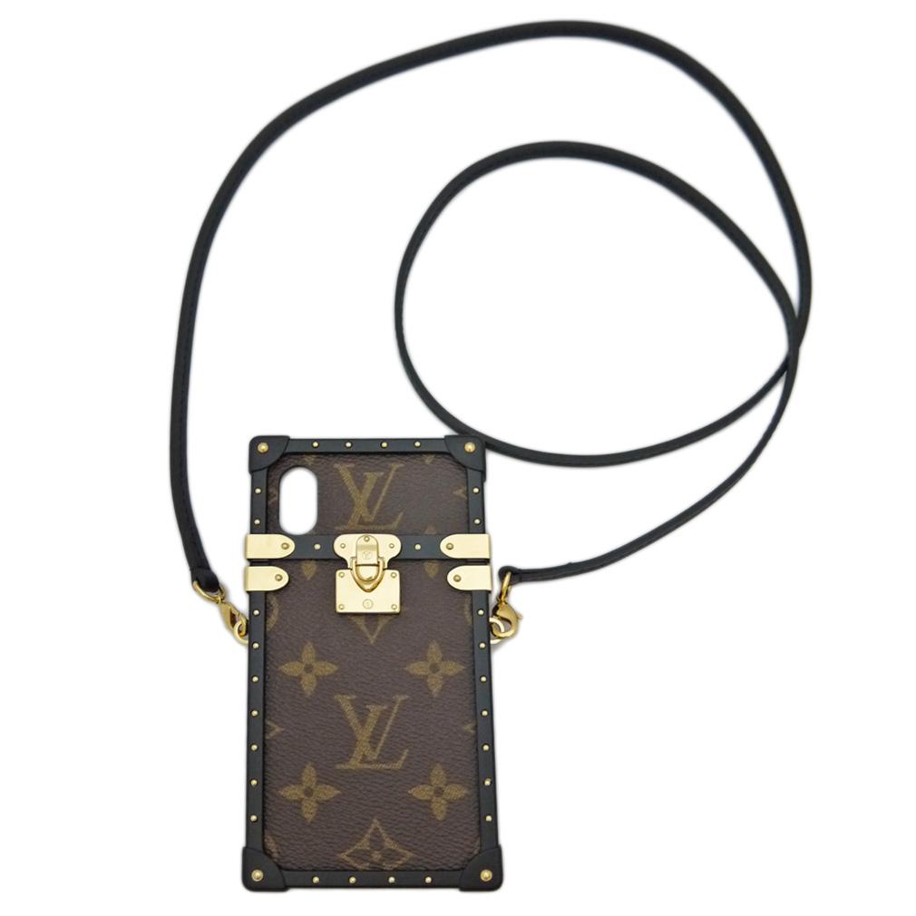 ルイヴィトン アイトランク ストラップ付 iphoneX/Xsアイフォンケース LOUIS VUITTON