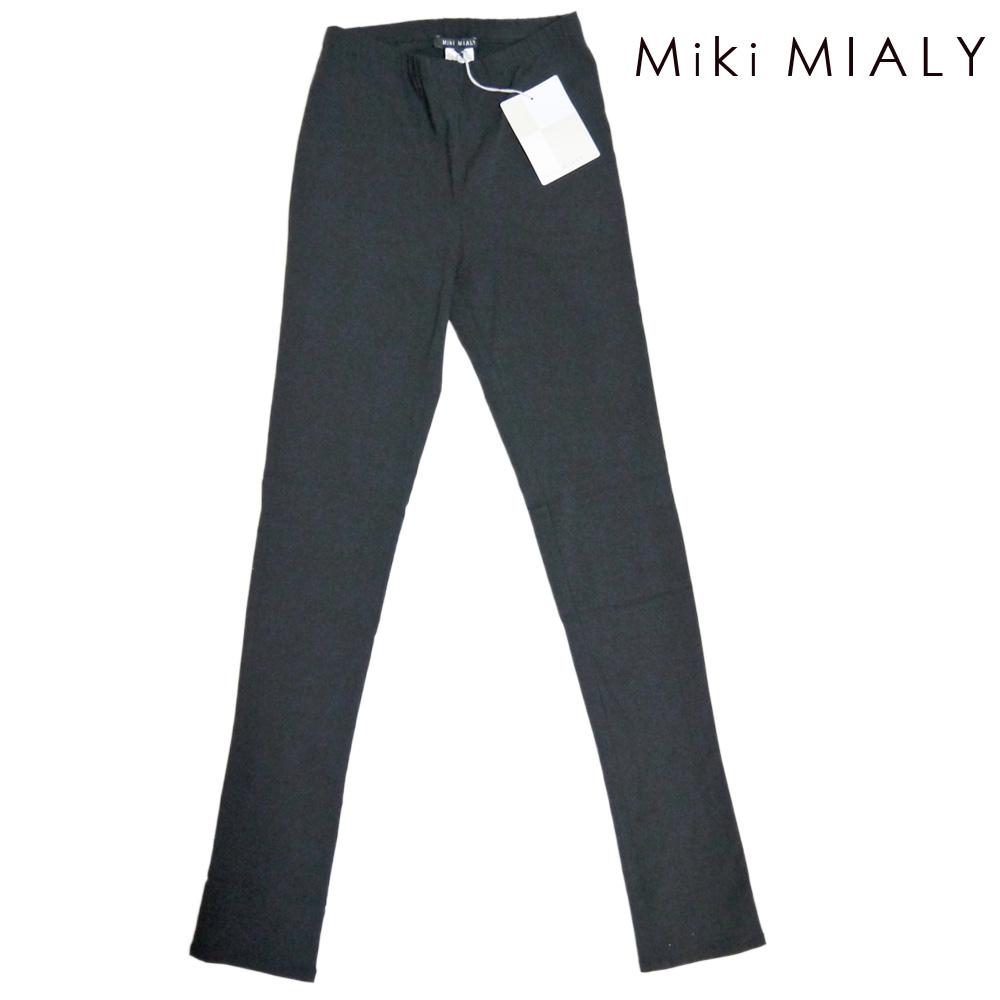 ミキミアリ リピーター続出! 美脚シルエット レギンスパンツ 黒 #XS #S #M #L #XL Miki MIALY