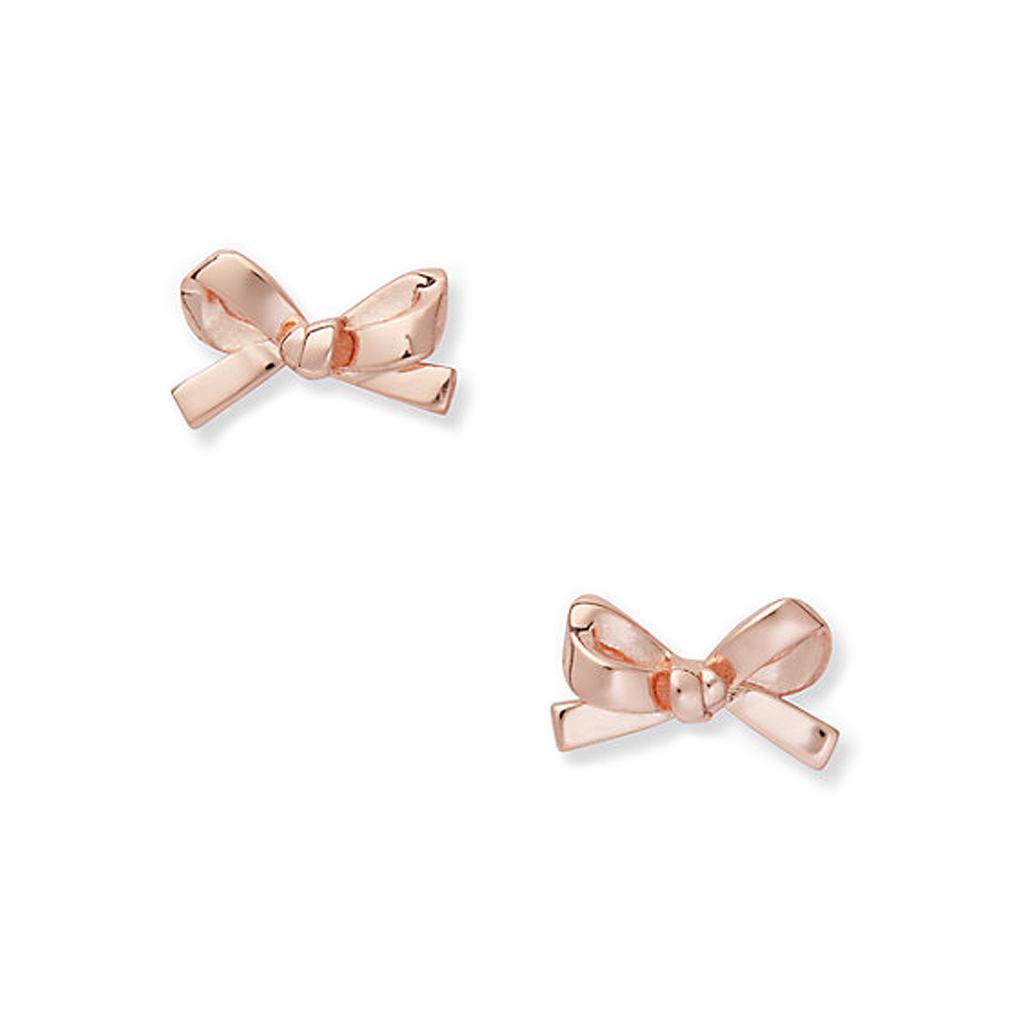 ケイトスペード リボン ピアス(skinny mini bow studs) ゴールド kate spade