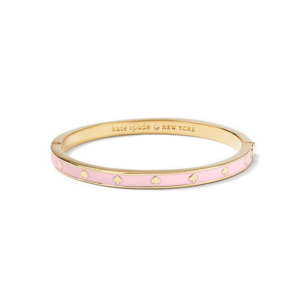 ケイトスペード スペードエナメル バングル(spot the spade enamel hinged bangle) ピンク kate spade