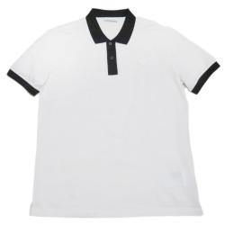 5813c1f5d37b プラダ メンズ 鹿の子 ポロシャツ 白×黒 #XL PRADA It Girl's collection
