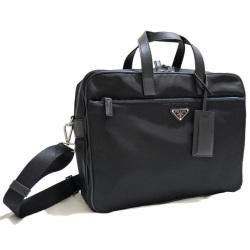 cce84c200b24 プラダ メンズ ナイロンラップトップケース 書類バッグ(ブリーフケース) 黒 ...