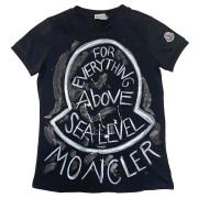 モンクレール ロックテイスト Tシャツ  黒 #XS  MONCLER