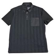 プラダ メンズ メッシュ ポロシャツ 黒 #M   PRADA
