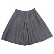 プラダ キュロットスカート チャコールグレー #40 PRADA