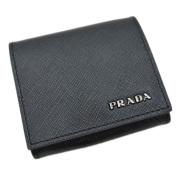 プラダ メンズ サフィアーノレザー コインケース 黒 2MM935  PRADA
