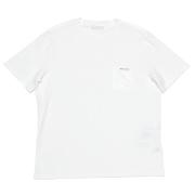 プラダ メンズ 異素材mix クルーネックTシャツ 白 #L #XL #XXL  PRADA