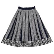 トリーバーチ ニットプリーツスカート(ジェミニリンクスカート) ネイビー #M TORY BURCH