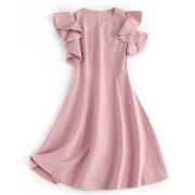 上品でセクシー 肩出し半袖ワンピース ピンク #S #M #L #XL
