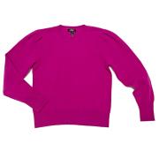 アクアカシミア カシミア100% クルーネックセーター ピンク #S AQUA Cashmere