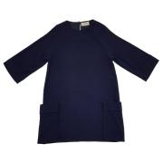 アイボリーズ イタリア製 ビッグポケット ゆったりワンピース 濃紺 #38 Ivories