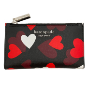 ケイトスペード ハート柄 コイン&カードケース 黒×赤(spencer celebration hearts)kate spade