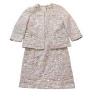 ブルマリン ツイードジャケット+半袖ワンピーススーツ ピンク #40 Blumarine