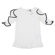 ブルーガール 袖フリル半袖カットソー(Tシャツ) 白 #38 blugirl