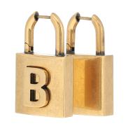 バレンシアガ ロック ピアス Lock earrings ゴールド BALENCIAGA