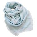 ロロピアーナ カシミア×シルク ラメライン スカーフ ブルー Loro Piana