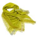 ロロピアーナ  カシミア×シルク スカーフ 黄緑 Loro Piana