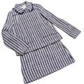 ミュウミュウ ツイードスーツ(ジャケット&タイトスカート) ネイビー #38 miu miu