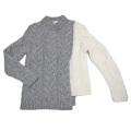 モンクレール 極暖 ケーブルニットセーター  グレー×白 #XS  MONCLER