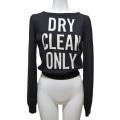 モスキーノ 「DRY CLEAN ONLY」メッセージセーター 黒 #40 MOSCHINO