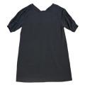 モスキーノ 半袖ゆったりきちんとワンピース 黒 #40 MOSCHINO