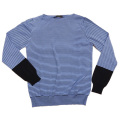 プラダ メンズ  ボーダー柄セーター ブルー #48 PRADA