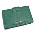 プラダ サフィアーノレザー アコーディオン カードケース(名刺入れ) 緑(BILIARDO) 1MC211 PRADA