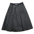 プラダ ナイロン プリーツスカート 黒 #38 PRADA