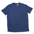 プラダ メンズ 刺繍ロゴ VネックTシャツ 紺 #M  PRADA