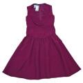 プラダ ドレープ ワンピースドレス 赤紫 #38 PRADA