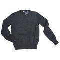 プラダ カシミア100% クルーネックセーター チャコールグレー #40 PRADA