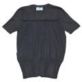 プラダ シルク混 半袖セーター ネイビー #38 PRADA