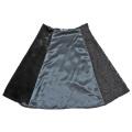 プラダ 異素材MIX フレアースカート 黒 #40 PRADA