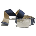 プラダ メンズ バイカラー ナイロンカジュアルベルト 紺×ベージュ #90 PRADA