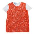プラダ 刺繍が素敵なTシャツ オレンジ #S PRADA