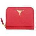 プラダ サフィアーノレザー コインケース(カードケース) 赤(ROSSO) 1MM268 PRADA