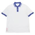 プラダ メンズ 鹿の子 ポロシャツ 白×青 #M  PRADA