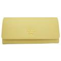 プラダ サフィアーノレザー 二つ折り長財布 黄色(POLLINE)1MH132 PRADA