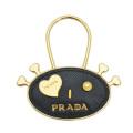 プラダ  レザーキーホルダー 黒 PRADA