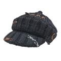 プラダ ニットキャスケット帽子 黒 PRADA