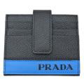 プラダ メンズ カードケース 黒×青 2MC049 PRADA