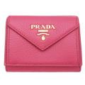 プラダ コンパクト財布 ピンク(PEONIA) 1MH021 PRADA