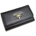 プラダ サフィアーノ革キーケース 黒 PRADA