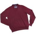 プラダ メンズ Vネック ウールセーター(ニット) ボルドー #50 PRADA