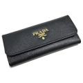 プラダ サフィアーノレザー 6連キーケース ロング 1M0223 黒 PRADA