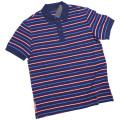 プラダ メンズ 鹿の子 ボーダー半袖ポロシャツ 青 #L #XXXL PRADA